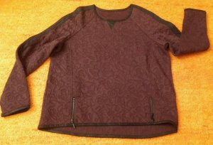Apanage Kraagloze sweater bruin-bruin-paars Polyester