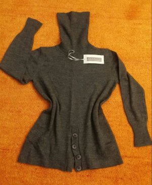 Neu Damen Pullover Woll feine Tunika Gr.L in Grau von Kapalua P.89,95EUR