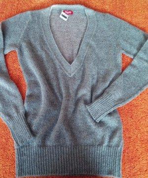 NEU Damen Pullover Wunderschön fein Mohair strick von Playlife Gr. S in Grau