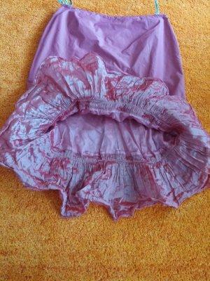Asymmetry Skirt pink mixture fibre