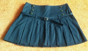 Tommy Hilfiger Plaid Skirt dark blue cotton