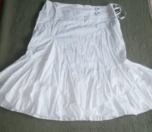 Lisa Campione Asymmetry Skirt white cotton