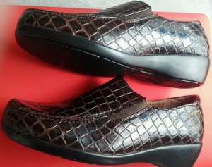 Moccasins brown imitation leather