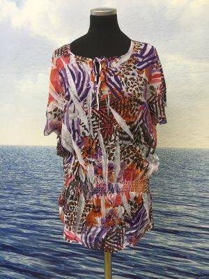 Neu Damen Sexy Bluse tunika Shirt Chiffon Bunt Gr.S, M, L