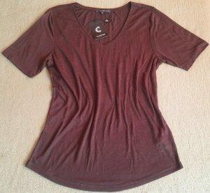 Boatneck Shirt brown viscose