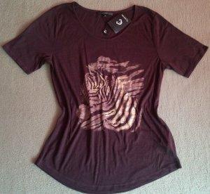 NEU Damen Shirt Bluse Butter weich, luftig,leicht von Clarina Gr.S in Braun WOW