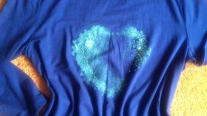 NEU Damen Shirt mit Glitzer Herz Gr.38 von Apanage P.49,95€