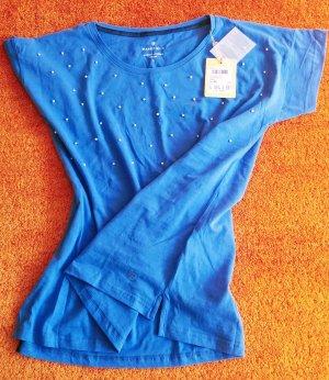 Basefield Camiseta azul aciano Algodón