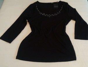 NEU Damen Shirt Strass Steinenzier Gr.M in schwarz von Apanage P. 59,95€
