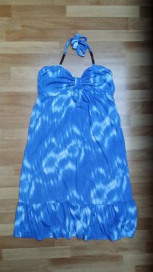 NEU Damen Sommer Kleid in blau-weiß/ Neckholder/ Gr. 42