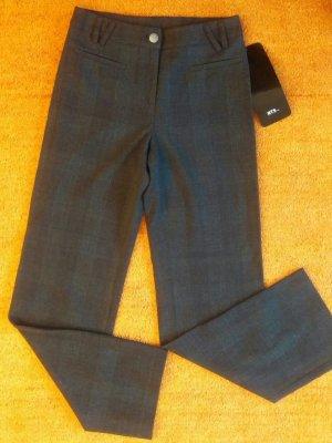 NEU Damen Stoff Hose Elegant warm Gr. 38 in Grau Kariert von NTS