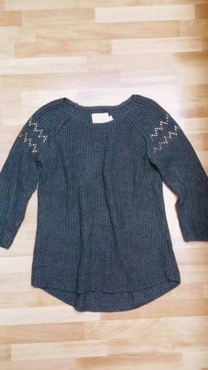 NEU Damen Strickpullover/ Pullover in dunkel grau/ Gr. M