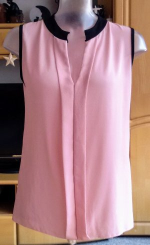 NEU Damen Tunika Sommer Bluse Gr.38 in Rosa/Schwarz