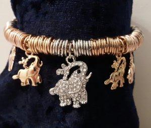 NEU..Damenmodeschmuck Armband edles Design mit Elefanten 18 Karat überzogen