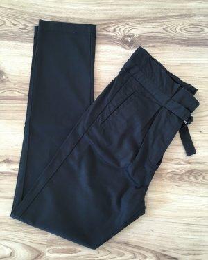 NEU Dekher Chino Hose S 36 38 W27 High Waist Paperbag Stoffhose Boyfriend