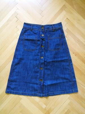 Forever 21 Jupe en jeans bleu coton