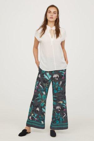 NEU! Designer Anna Glover x H&M Gemusterte Schlupfhose M 38 Blogger Fashion grau