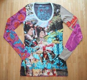 NEU Desigual Langarm Shirt Longsleeve T-Shirt Gr. S