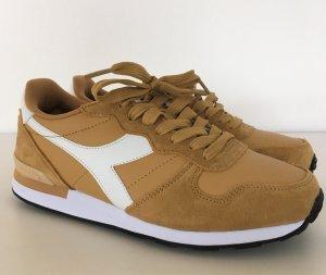 NEU Diadora Sneaker 38 Gelb Gold Leder Damen Schuhe Echtleder Laufschuhe Turnschuhe