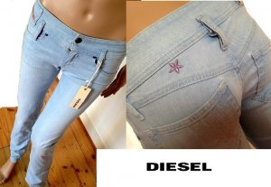 Neu!!!  DIESEL MATIC Jeans Jeanshose hellblau W24 L34 34-36 Skinny