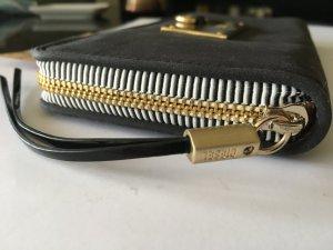 Diesel Portemonnee zwart-goud Gemengd weefsel