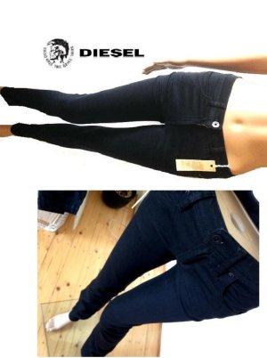 NEU! DIESEL Roloise Slim Jeans hochgeschnittene Röhrenjeans W24 wie leggings