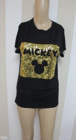 NEU Disney Mickey Maus Pailletten Shirt Top T-shirt
