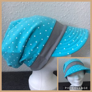 Cap azure-light grey