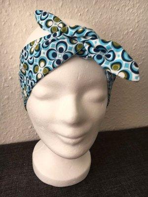 Nastro per capelli azzurro Cotone