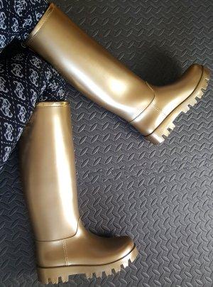 Dolce & Gabbana Botte en caoutchouc doré