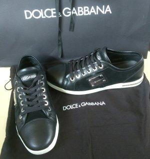Dolce & Gabbana Sneaker nero-bianco Pelle