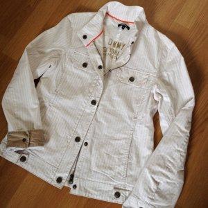 NEU Donna Karan New York Jacke XS 34 DKNY Trenchcoat Blazer Nude Bikerjacke