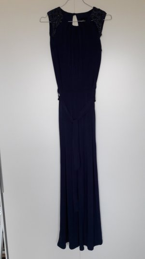 NEU Dorothy Perkins Jumpsuit Stretch Gürtel Perlenstickerei blau Gr. UK8 36