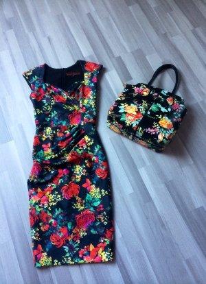 NEU Drezz2Imprezz Etuikleid NP: 229,00 € Kleid Pencilkleid Blumen floral in 38 M