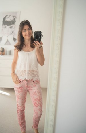 NEU Drykorn Hose Jeans rosa mit Punkten