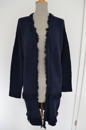 Mango Suit Knitted Coat dark blue-blue