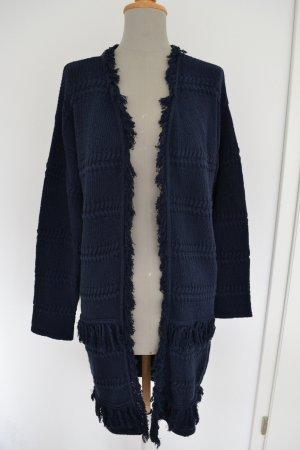 Neu Dunkelbkau Strickmantel Jacke Mango Suit L 36 38