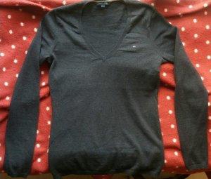 *NEU* Dunkelblauer Tommy Hilfiger Basic-Pullover mit V-Ausschnitt