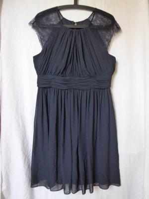 NEU: Dunkelblaues Cocktail-Kleid mit Spitze von Mariposa