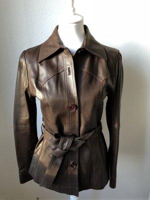 Gant Leather Jacket dark brown leather