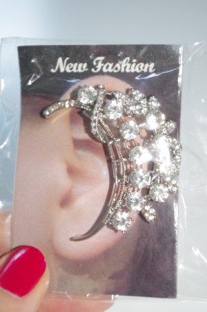 Neu! Ear Cuff silber mit kristallfarbenen Steinen