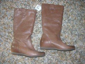 Neu! Echt Leder Stiefel von 5TH Avenue, Hellbraun, Gr. 39