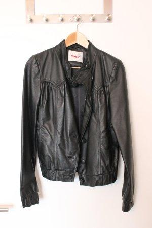 NEU: Echte Lederjacke von ONLY in schwarz