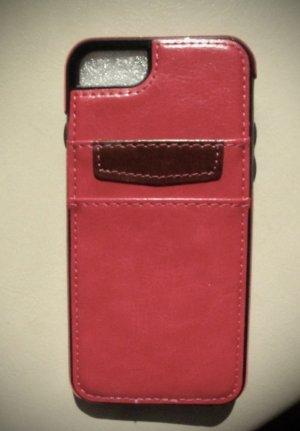 Hoesje voor mobiele telefoons roze Leer