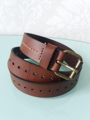 Marc O'Polo Cintura di pelle marrone-marrone-rosso