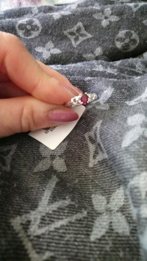 neu echtsilber ring gr 17 mit rhodonit