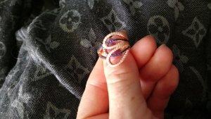 neu echtsilber ring rose vergoldet gr 17 mit zirkonia