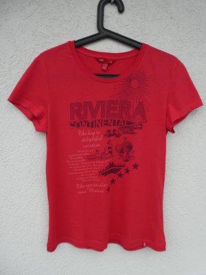 NEU – edc by Esprit – T-Shirt, rot mit Aufdruck