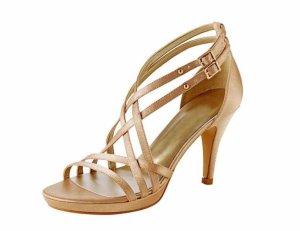 Neu! Edle Sandaletten von Chillany in Gold Gr. 37
