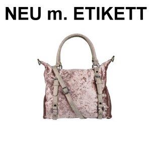 NEU! Edle Sommertasche in rosegold mit Henkeln und Schultergurt